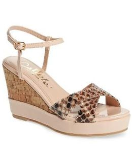 Lottie Platform Wedge Sandal
