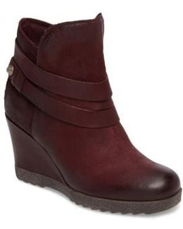 Narcissa Ankle Wrap Wedge Bootie