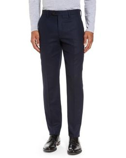 Glentro Semi Plain Wool Blend Trousers