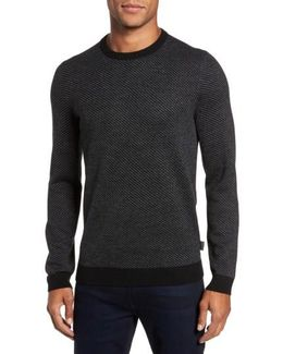 Cinamon Interest Stitch Crewneck Sweater