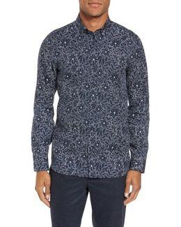 Lalous Slim Fit Floral Print Sport Shirt