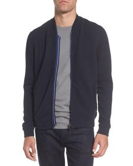 Clive Quilted Jersey Bomber Jacket