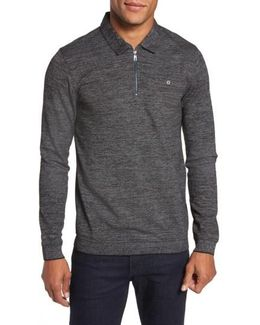 Modern Slim Fit Long Sleeve Jersey Polo