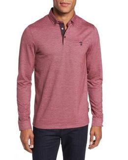 Trever Slim Fit Long Sleeve Oxford Polo
