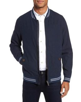 Linen & Cotton Bomber Jacket