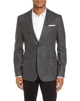 Modern Slim Fit Textured Blazer