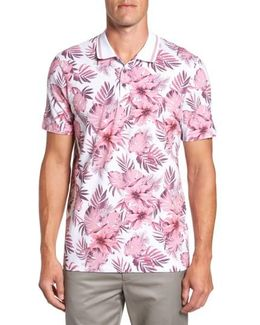 Course Floral Print Modern Slim Fit Polo