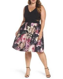Jersey Floral Party Dress