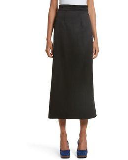 Side Zip Midi Skirt