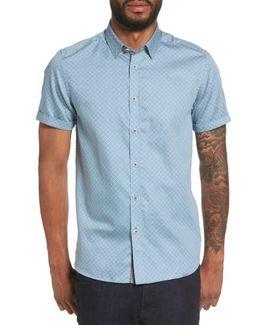 Lashore Basketweave Print Woven Shirt