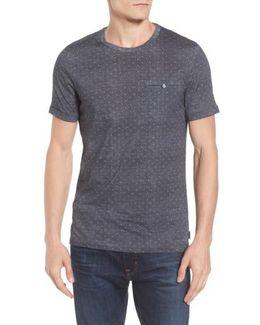 Giovani Modern Slim Fit Print T-shirt