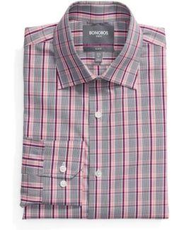Slim Fit Plaid Dress Shirt