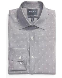 Slim Fit Dot Dress Shirt