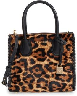 Michael By Michael Kors Medium Mercer Genuine Calf Hair Crossbody Tote