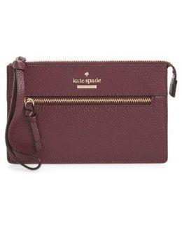 Jackson Street - Lancey Leather Wristlet - Purple