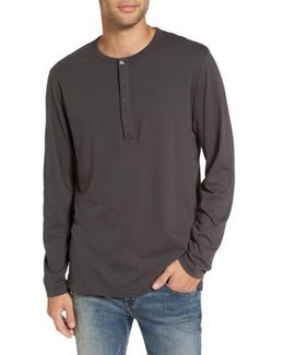 Long-sleeve Henley T-shirt