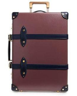 Brinjal 20-inch Hardshell Travel Trolley Case - Purple