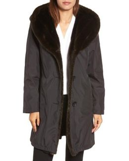 Storm Coat With Faux Fur Trim & Lining