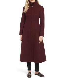 Full Length Wool Blend Coat