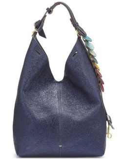 Small Circles Leather Bucket Bag