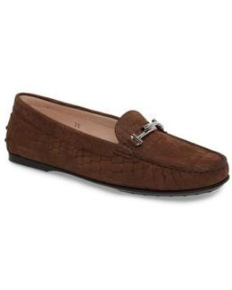 Croc Embossed Double T Loafer