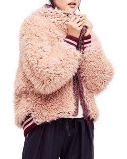 Faux Fur Dolman Jacket