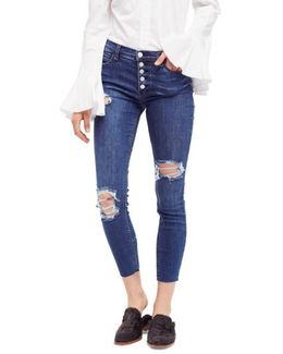 Reagan Destroyed Crop Skinny Jeans