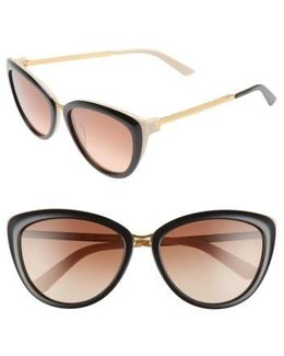 56mm Cat Eye Sunglasses