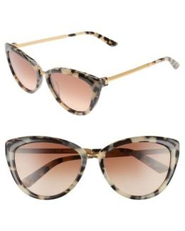 56mm Cat Eye Sunglasses - Cream Tortoise