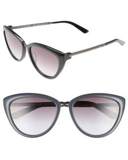 56mm Cat Eye Sunglasses - Jet/ Black