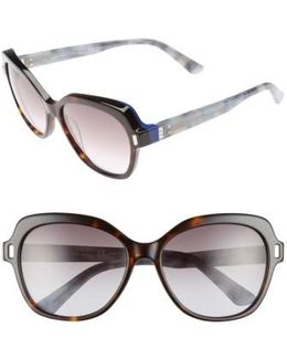 56mm Square Sunglasses - Havana
