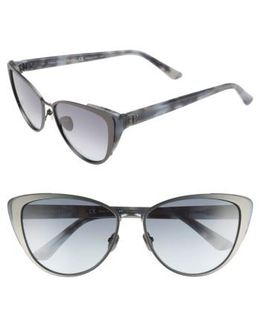 57mm Cat Eye Sunglasses - Titanium