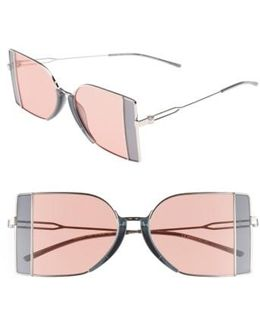 51mm Butterfly Sunglasses - Nickel