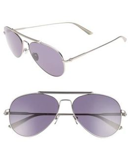 58mm Aviator Sunglasses - Satin Nickel