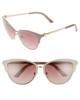 57mm Cat Eye Sunglasses - Mushroom