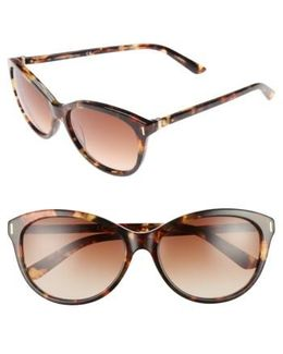 57mm Cat Eye Sunglasses - Maple Tortoise