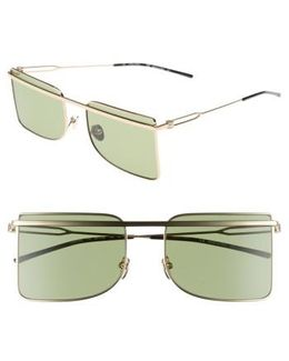 56mm Butterfly Sunglasses - Light Gold