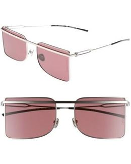 56mm Butterfly Sunglasses - Nickel