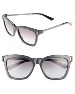 55mm Square Sunglasses - Jet/ Black