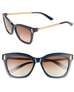 55mm Square Sunglasses - Milky Navy