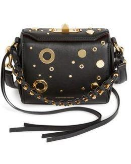 Grommet & Stud Calfskin Leather Box Bag