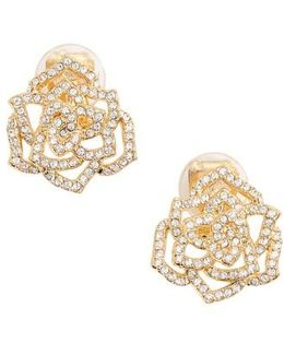 Rose Clip-on Stud Earrings