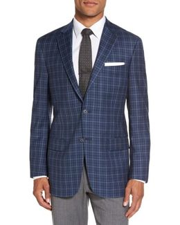 Classic Fit Check Wool Sport Coat