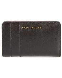 Saffiano Leather Compact Wallet