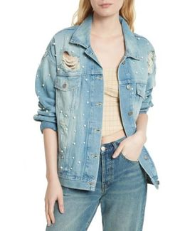 Sunday Funday Denim Trucker Jacket