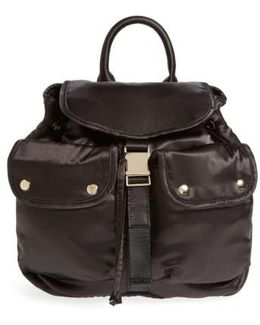 Small Satin Backpack