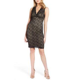 Lace Body Con Dress