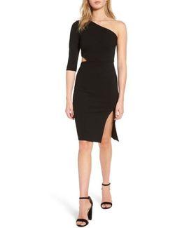 Side Cutout One-shoulder Dress