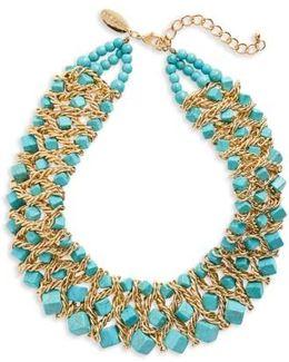 Natasha Chain & Stone Statement Necklace