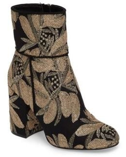 Goldie Sequin Embroidered Bootie